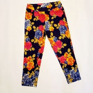 Soft Surroundings Floral Super Stretch Ankle Pant